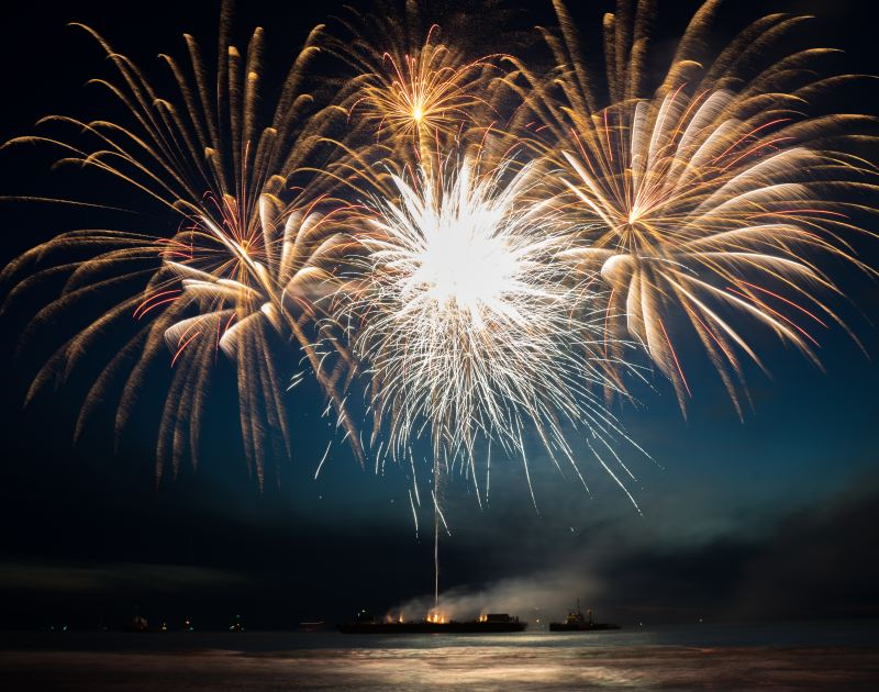 Vuurwerkfestival Scheveningen Ponton